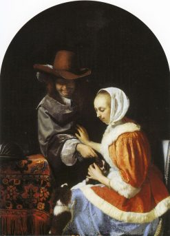 Teasing the Pet | Frans van Mieris the Elder | Oil Painting