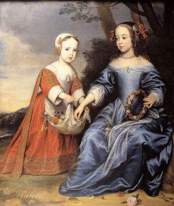 Portrait of Prince Willem III (1650-1702) and Maria van Nassau (1642-1688) as Children | Gerard van Honthorst | Oil Painting