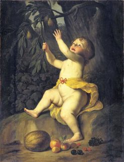 Cherub Picking Fruit | Gerard van Honthorst | Oil Painting