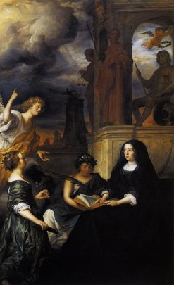 Hope Comes to Amalia van Solms at the Tomb of Frederik Hendrik | Govaert Flinck | Oil Painting