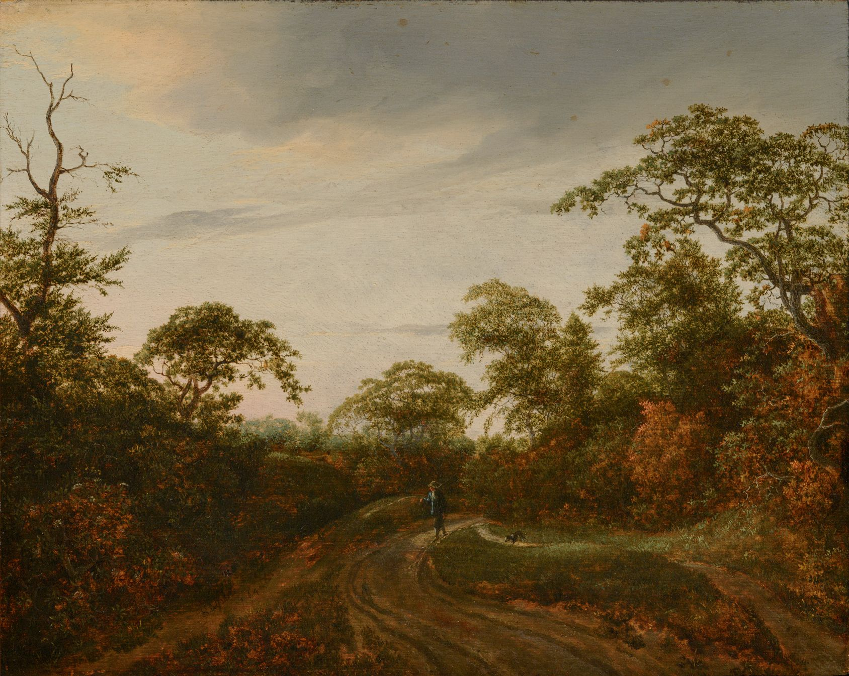 Road through a Wooded Landscape at Twilight | Jacob van Ruisdael | Oil Painting