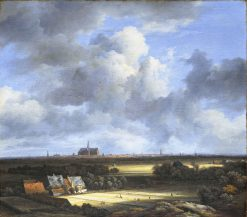 View of Haalem from the North-West with the Bleaching Fields in the Foreground | Jacob van Ruisdael | Oil Painting