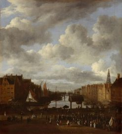 View of the Dam and the Damrak in Amsterdam | Jacob van Ruisdael | Oil Painting