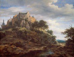 View of Bentheim Castle | Jacob van Ruisdael | Oil Painting