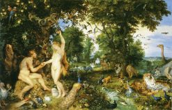 The Garden of Eden and the Fall of Man | Jan Brueghel the Elder | Oil Painting