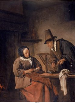 Man Displaying an Onion Grater | Jan Havicksz. Steen | Oil Painting