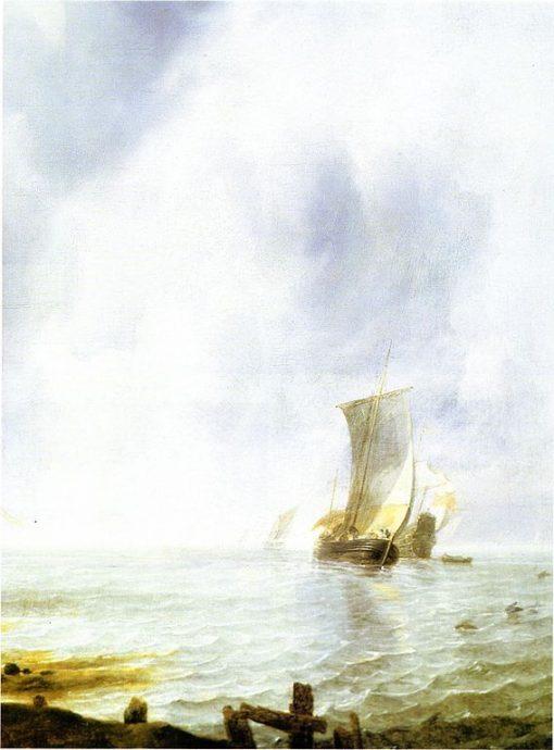 Ships off the Coast | Jan van de Cappelle | Oil Painting