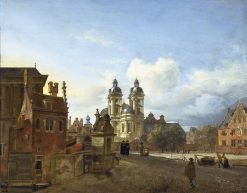 The Andreas Church in Dusseldorf | Jan van der Heyden | Oil Painting