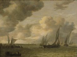 River Mouth with Cargo Ships | Jan van Goyen | Oil Painting