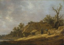 Peasants at a Deserted Farm | Jan van Goyen | Oil Painting