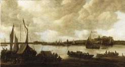 View over the Rhine to the Eltian Mountain | Jan van Goyen | Oil Painting