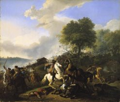 Attack on a Convoy | Jan van Huchtenburgh | Oil Painting