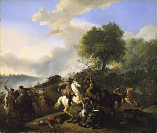 Attack on a Convoy | Jan van Huchtenburgh | Oil Painting