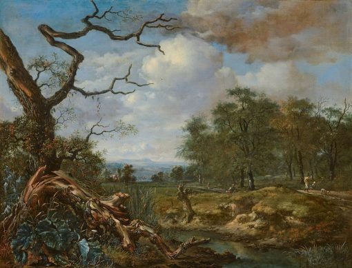 Landscape at the Edge of Woods | Jan Wijnants | Oil Painting