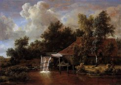 Landscape with Watermill | Meindert Hobbema | Oil Painting