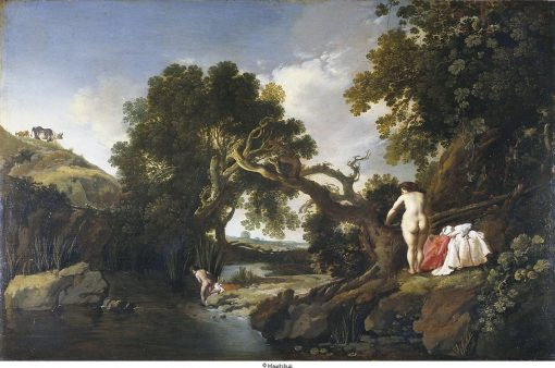 Classical Landscape with Hermaphroditus | Moses van Uyttenbroeck | Oil Painting