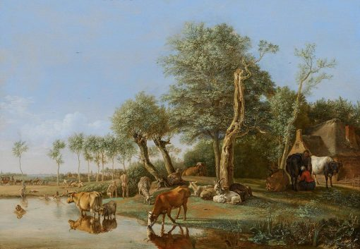 Cows Reflected in the Water | Paulus Potter | Oil Painting