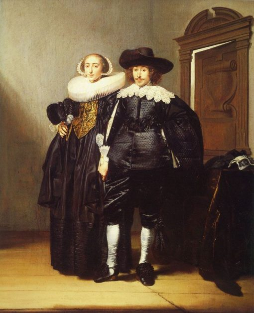 Double Portrait of a Married Couple | Pieter Codde | Oil Painting