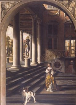 Perspective View with a Woman Reading a Letter | Samuel van Hoogstraeten | Oil Painting