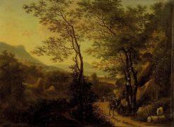 Mountainous Landscape in Italy   Willem de Heusch   Oil Painting