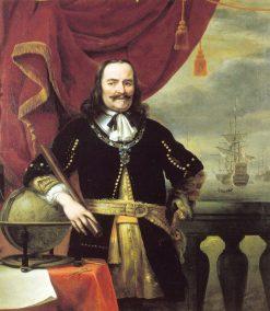 Portrait of Michiel de Ruyter | Willem van de Velde the Younger | Oil Painting