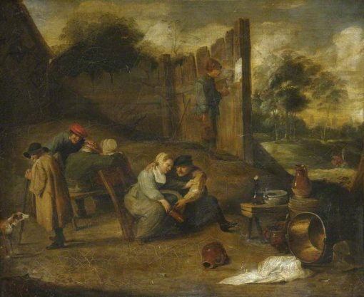A Group of Peasants outside a Tavern | David Teniers II | Oil Painting