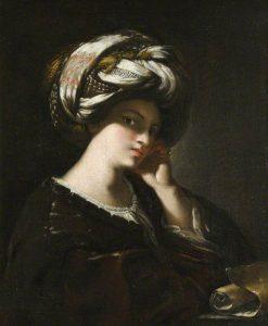 Girl with a Large Turban (A Sibyl)   Francesco Cairo   Oil Painting