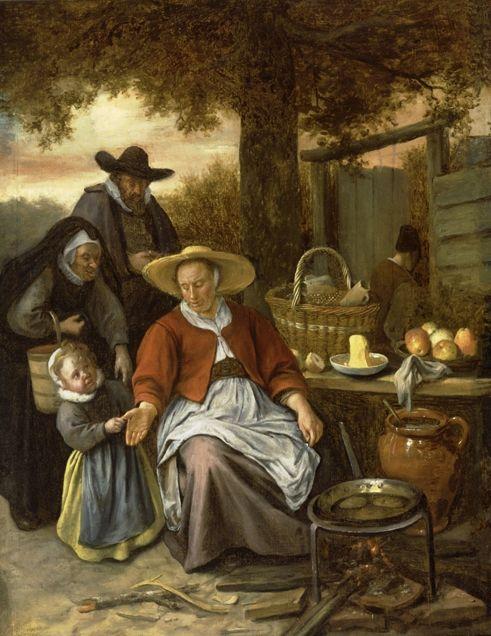 The Pancake Woman | Jan Havicksz. Steen | Oil Painting