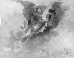 Compositional Study for Arcessita ab Angelis | Carl Gutherz | Oil Painting