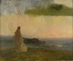 Compositional Study for Evening of the Sixth Day | Carl Gutherz | Oil Painting