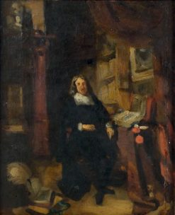 """Copy of """"Portrait of George William Fairfax"""" by Rembrandt 