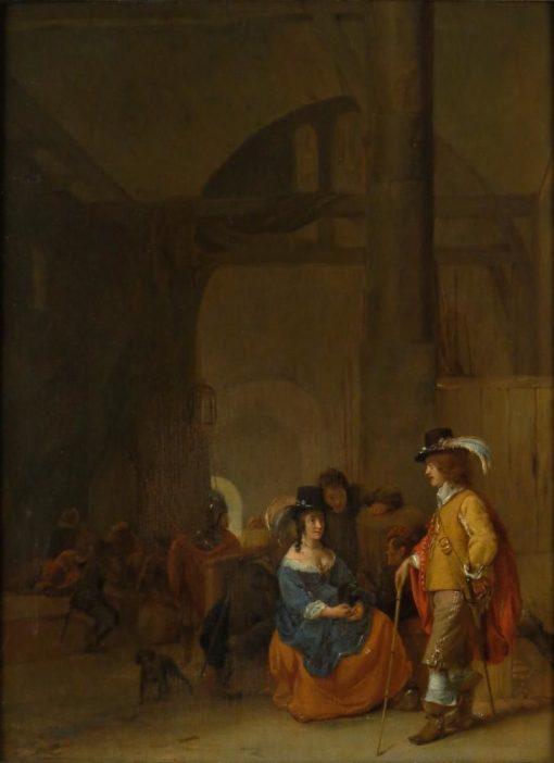 An Interior   Dutch School th Century   Unknown   Oil Painting