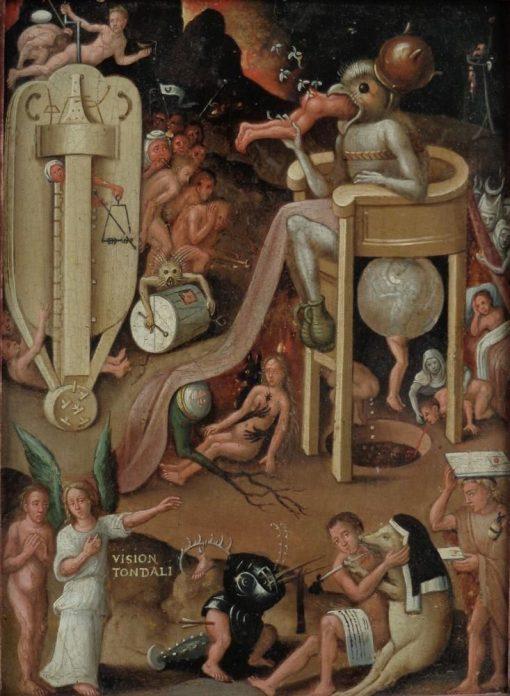 Figures in Hell   Jheronimus Bosch   Oil Painting