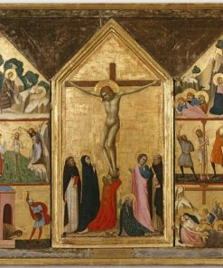 The Crucifixion with Scenes from the Passion and Saint John the Baptist | Lippo di Benivieni | Oil Painting
