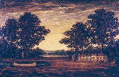 Indian Encampment | Ralph Albert Blakelock | Oil Painting