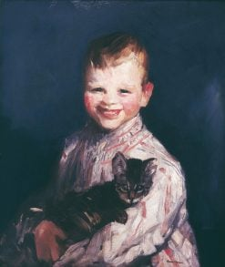 Cori with Cat | Robert Henri | Oil Painting