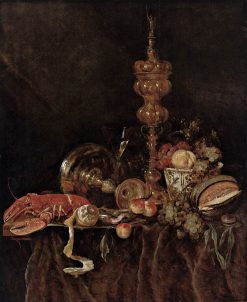 Still-Life with Lobster and Fruit | Abraham van Beyeren | Oil Painting