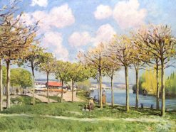 The Seine at Bougival | Alfred Sisley | Oil Painting