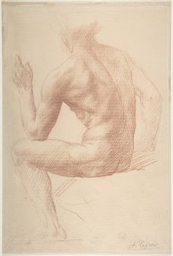 Study of a Male Figure | Alphonse Legros | Oil Painting