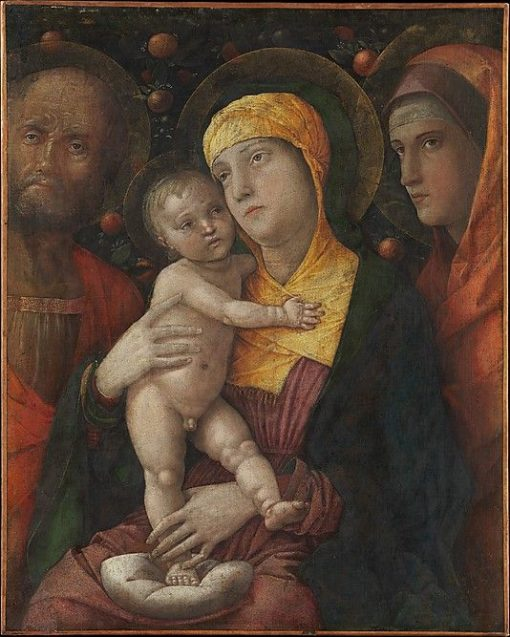 The Holy Family with Saint Mary Magdalene   Andrea Mantegna   Oil Painting