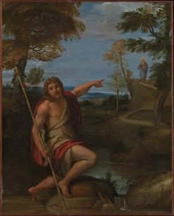Saint John the Baptist Bearing Witness | Annibale Carracci | Oil Painting