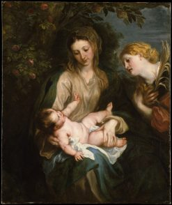 Virgin and Child with Saint Catherine of Alexandria | Anthony van Dyck | Oil Painting