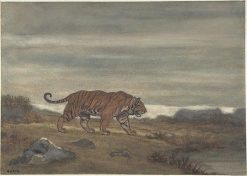Tiger Approaching a Pool | Antoine Louis Barye | Oil Painting