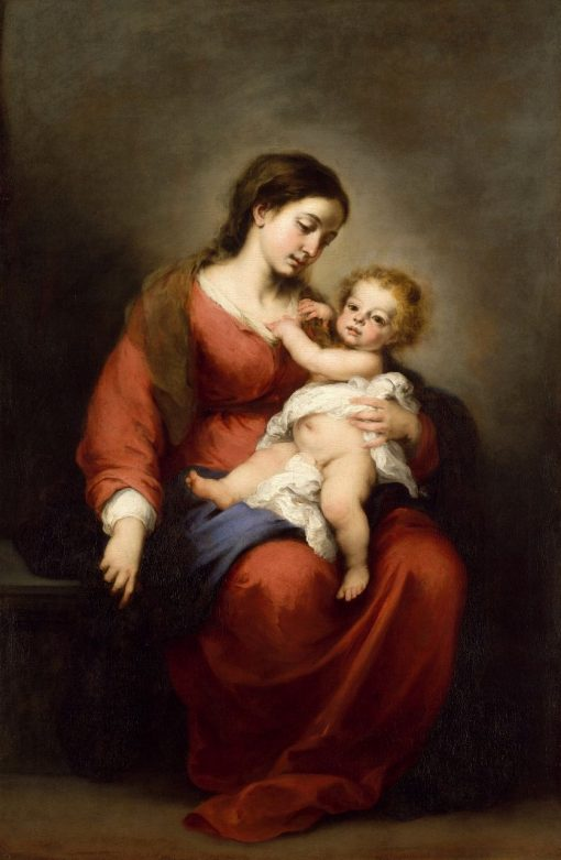 Madonna and Child | BartolomE Esteban Murillo | Oil Painting
