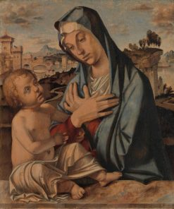 Madonna Adoring the Child | Bartolomeo Montagna | Oil Painting