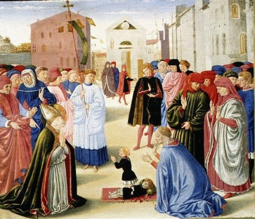 Saint Zenobius Resuscitating a Dead Child   Benozzo Gozzoli   Oil Painting