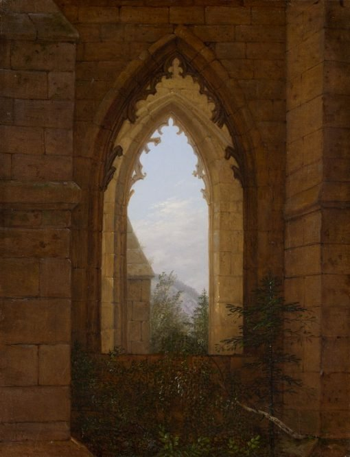 Gothic Windows in the Ruins of the Monastery at Oybin | Carl Gustav Carus | Oil Painting