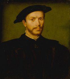 Portrait of a Bearded Man in Black | Claude Corneille de Lyon | Oil Painting