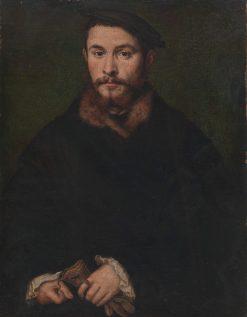 Portrait of a Man with Gloves | Claude Corneille de Lyon | Oil Painting