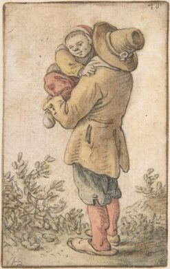 Peasant with Child | Cornelis Saftleven | Oil Painting